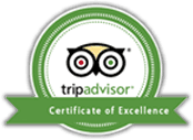 Tripadvisor Certificate of Excellence stamp